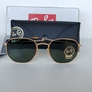Ray Ban Hexagonal rb3548N 001 green lenses 51mm